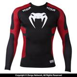 "Venum ""Absolute"" Long-Sleeve Compression Shirt (Black/Red)"